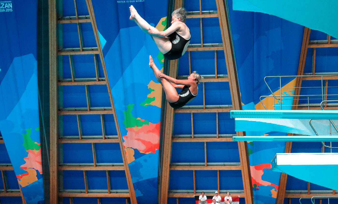 Wasserspringen - Schübel zweifache Weltmeisterin
