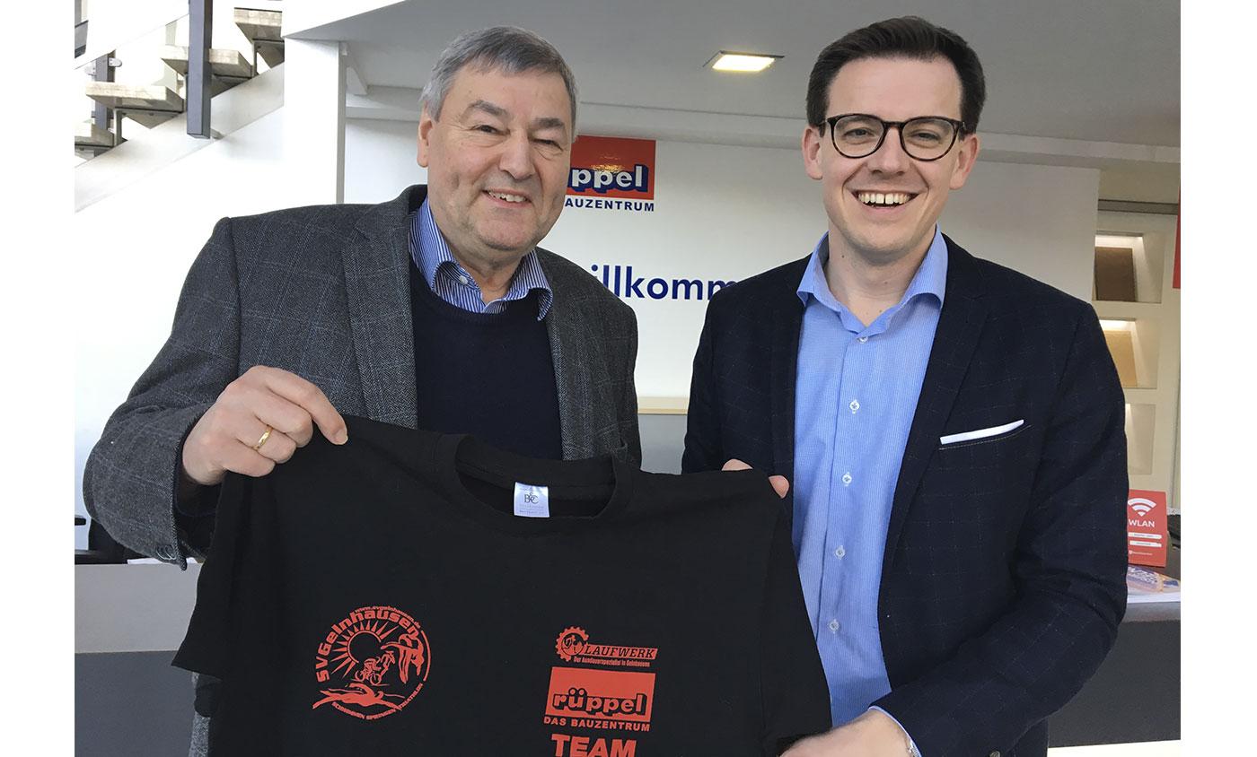 Dr. Rolf Müller bedankt sich für die Unterstützung