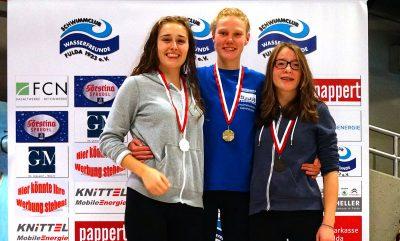 Der Konkurrenz davongeeilt: Nil Reiser, Luise Olischläger und Ronja Sauer.
