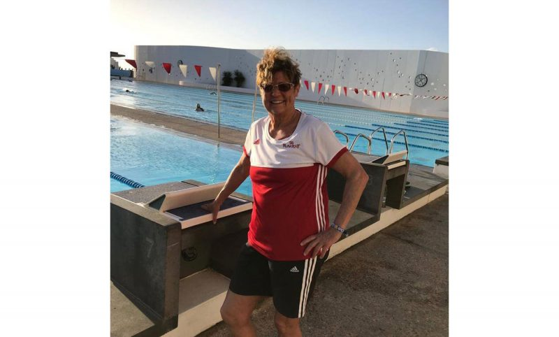 Annerose Trobisch im Trainingslager auf Lanzarote