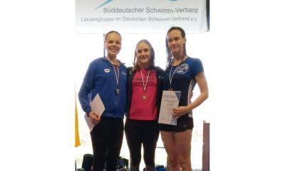 Jana Schomann (rechts) bei der Siegerehrung.