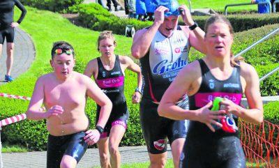 """Kampfgeist war gestern Vormittag beim """"Swim & Run"""" des SV Gelnhausen gefragt"""