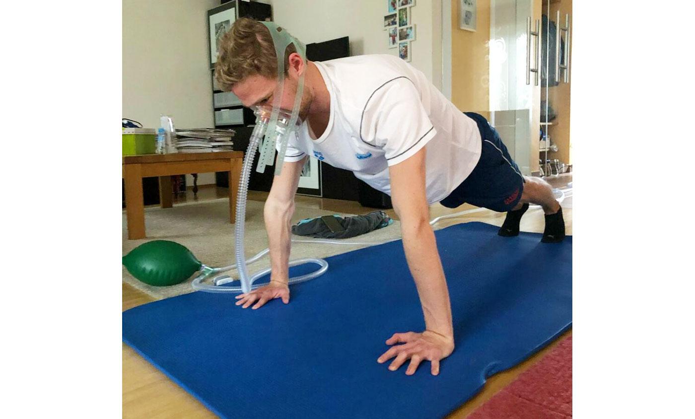 Niklas Frach trainiert unter erschwerten Bedingungen