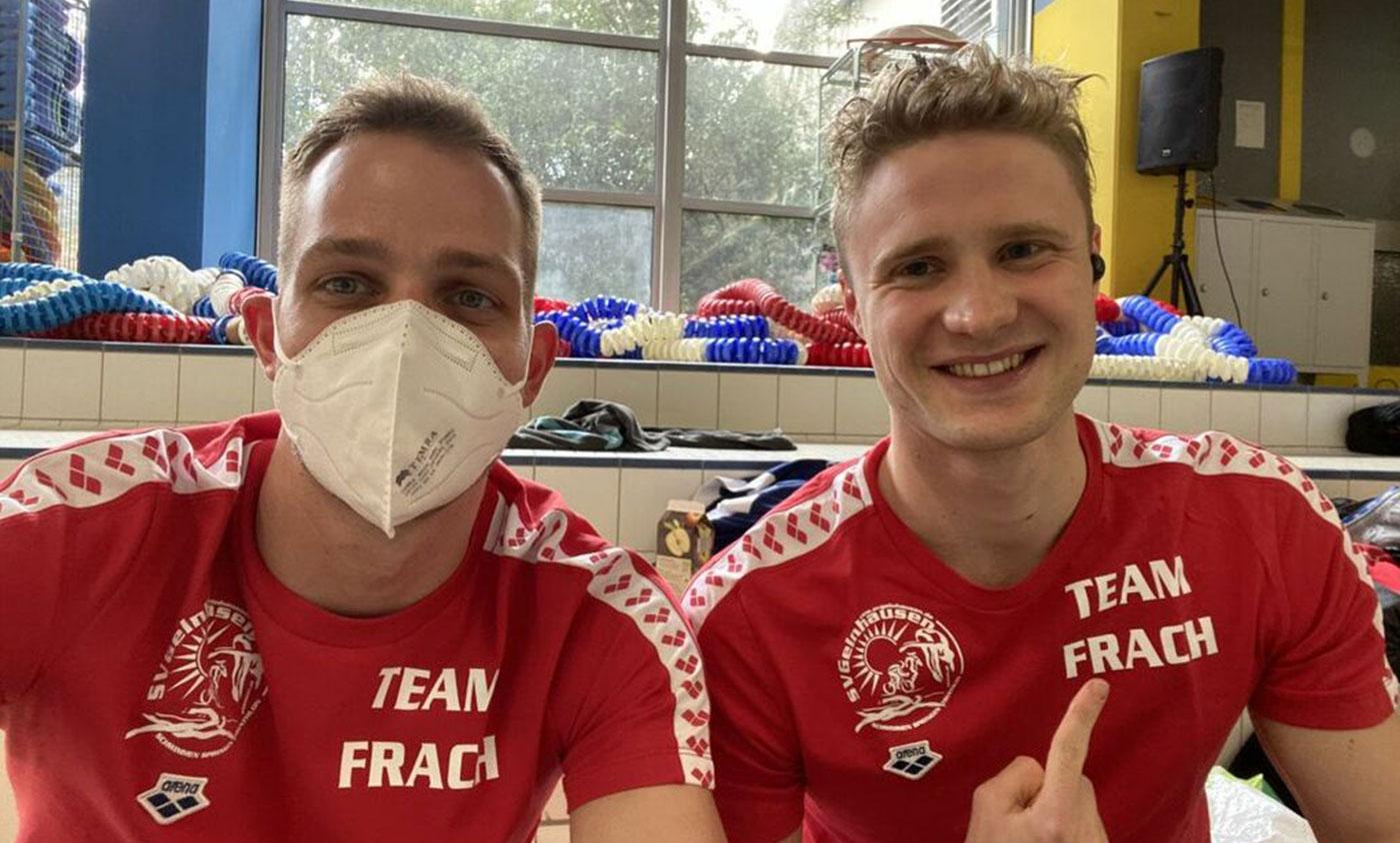 Trainer Robin Rausche und Niklas Frach