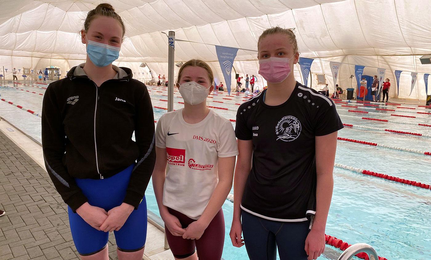Die drei Powerfrauen Jana Schomann, Lilly Seiler und Rosa Reitz